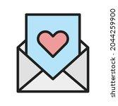 love letter icon vector image....   Shutterstock .eps vector #2044259900