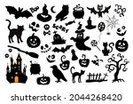 collection of silhouettes for... | Shutterstock .eps vector #2044268420