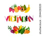 vegetarian food. background... | Shutterstock .eps vector #204428320