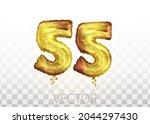 vector golden foil number 55...   Shutterstock .eps vector #2044297430