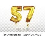 vector golden foil number 57...   Shutterstock .eps vector #2044297439