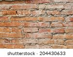 close up rock wall wtih... | Shutterstock . vector #204430633