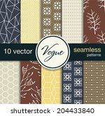 10 fashionable seamless vector... | Shutterstock .eps vector #204433840