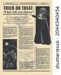halloween postcard old... | Shutterstock .eps vector #2044340456