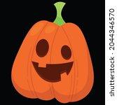 halloween pumpkin icon vector... | Shutterstock .eps vector #2044346570