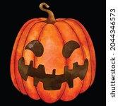 halloween pumpkin icon vector... | Shutterstock .eps vector #2044346573