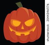 halloween pumpkin icon vector... | Shutterstock .eps vector #2044346576