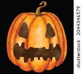 halloween pumpkin icon vector... | Shutterstock .eps vector #2044346579