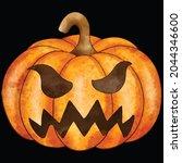 halloween pumpkin icon vector... | Shutterstock .eps vector #2044346600