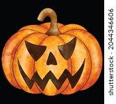 halloween pumpkin icon vector... | Shutterstock .eps vector #2044346606