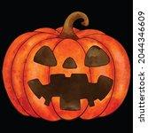 halloween pumpkin icon vector... | Shutterstock .eps vector #2044346609