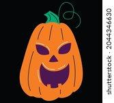 halloween pumpkin icon vector... | Shutterstock .eps vector #2044346630