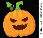 halloween pumpkin icon vector... | Shutterstock .eps vector #2044346636