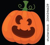 halloween pumpkin icon vector... | Shutterstock .eps vector #2044346639