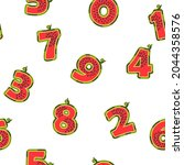 seamless pattern with numbers...