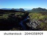 volcanic landscape  water...   Shutterstock . vector #2044358909