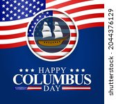 columbus day is observed every... | Shutterstock .eps vector #2044376129