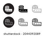 full vector measure icon set | Shutterstock .eps vector #2044392089