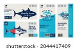 vector tuna labels and... | Shutterstock .eps vector #2044417409