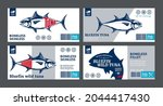 vector tuna labels and... | Shutterstock .eps vector #2044417430