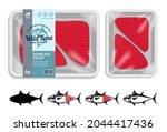 vector tuna packaging... | Shutterstock .eps vector #2044417436