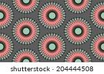 seamless flower  pattern  | Shutterstock .eps vector #204444508