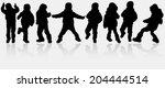 boys silhouettes | Shutterstock .eps vector #204444514