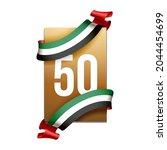 fifty uae national day  spirit...   Shutterstock .eps vector #2044454699