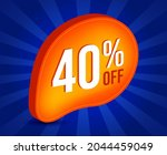 40  off sale 3d sign. special... | Shutterstock .eps vector #2044459049