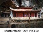 bich dong pagoda in ninh binh ... | Shutterstock . vector #204446110
