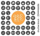 party icons set | Shutterstock .eps vector #204446686