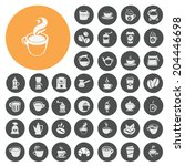coffee icons set | Shutterstock .eps vector #204446698
