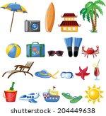 travel cartoon icons  | Shutterstock .eps vector #204449638