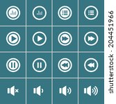 audio and music bold icon set ... | Shutterstock .eps vector #204451966