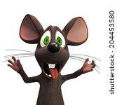 cartoon mouse | Shutterstock . vector #204453580
