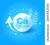 realistic 3d calcium. calcium... | Shutterstock .eps vector #2044552553