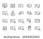 set of picture icons. flat...   Shutterstock .eps vector #2044562693
