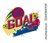 goal t shirt design. football...   Shutterstock .eps vector #2044584959