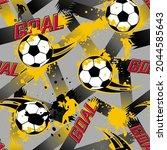 abstract seamless football...   Shutterstock .eps vector #2044585643