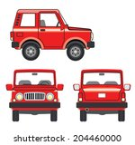 red car in vector. suv vehicle... | Shutterstock .eps vector #204460000