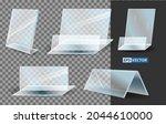 set of realistic acrylic blank...   Shutterstock .eps vector #2044610000