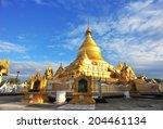 kuthodaw pagoda in mandalay ...   Shutterstock . vector #204461134