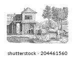 village illustration   Shutterstock . vector #204461560