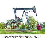 crude pumps. oil industry... | Shutterstock . vector #204467680