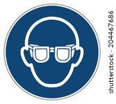 mandatory action sign  wear... | Shutterstock .eps vector #204467686