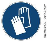 mandatory action sign  wear... | Shutterstock .eps vector #204467689