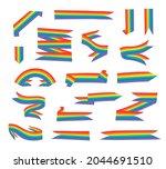flat illustration rainbow.... | Shutterstock . vector #2044691510