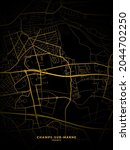 Champs Sur Marne  France Map  ...