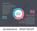 infographic template with two... | Shutterstock .eps vector #2044730219