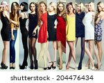 fashion collage. group of... | Shutterstock . vector #204476434
